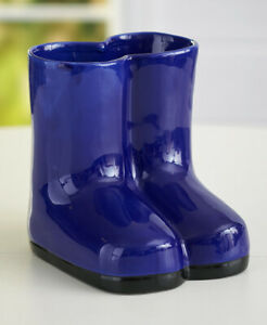 Boldly Colorful Indoor/Outdoor Ceramic Rainboot Vases Fun Home Decor