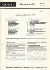 Grundig Service Anleitung Manual RTV 900 900a   B1096