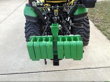 Cat. 1 Sub-Compact Tractor Hitch Receiver & Weight Bracket for 3 Pt Hitch Green