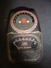 Old Vtg GE General Electric DW-68 Photographic Exposure Light Meter With Case
