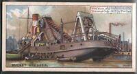 Bucket Dredge Marine Ocean Heavy Equipment 90+ Y/O Ad Trade Card