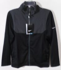 NWT Nike Golf Youth Boys Full-Zip Golf Jacket S Black/Wolf Grey MSRP$65