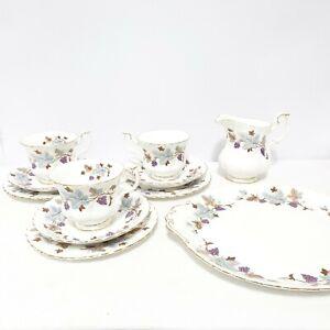Royal Albert Bone China England Lorraine Grapevine Trio Tea Set Serving Plate