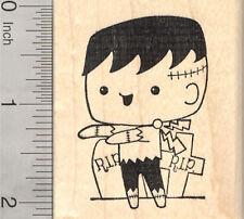 Halloween Frankenstein Rubber Stamp, Monster in Graveyard H25905 WM