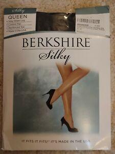 Berkshire Women's Plus Size 5X 6X Off Black Silky Sheer Control Top Pantyhose