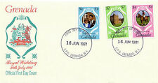 Grenadian First Day Cover Royalty Postal Stamps