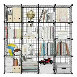 16 Cube Wire Grid Storage, Shelving / shelf Rack, Closet Cabinet Bookcase / DIY