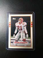 1989 Topps Traded Football #30T Deion Sanders Falcons RC Rookie HOF