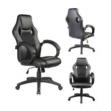 New listing Ergonomic Mid-back Pu leather Office Chair Executive Computer Desk Task Black