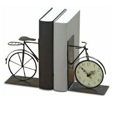 Bicycle Clock Book Ends