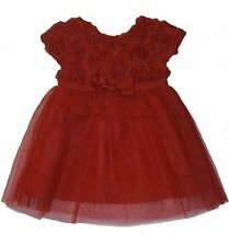 BNWT Party Flower Girl Princess Red Tulle & Chiffon Flower Dress Size 5