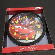 "NIB Disney Pixar Cars 2 Wall Clock with Lightning McQueen & Mater in Tokyo 9.75"""