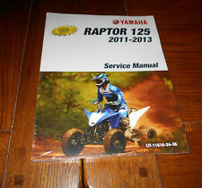 YAMAHA RAPTOR 125 OEM REPAIR,SERVICE MANUAL BOOK 11-13