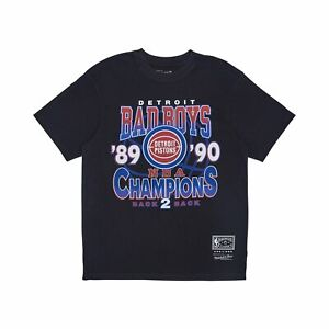 Mitchell & Ness NBA Detroit Pistons Vintage Champs T-Shirt – Faded Black
