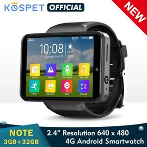 "2021 New 4G Smart Watch Men Dual Camera 2.4"" Android 7.1 3GB 32GB face ID unlock"