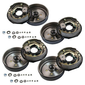 """4 Trailer 5 on 4.5 Hub Drum Kits and 10""""X2-1/4"""" Electric brakes for 3500lbs axle"""
