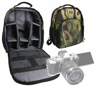 Camouflage Water-Resistant Rucksack / Backpack for Olympus OM-D E-M5 Mark II