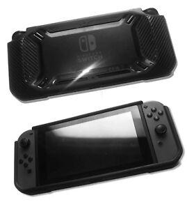 Nintendo Switch Rugged Heavy Duty Rubberised TPU Protective Bumper Case Black