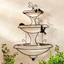 XL FRENCH WALL ART plaque back yard DECOR fountain 100cm high  NEW black new
