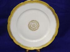 J Pouyat Limoges Wanamaker Poy148 White Gold Encrusted Medallion Dinner Plate