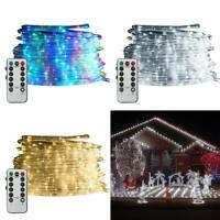 39FT 120 LED Outdoor Strip Rope Lights Fairy String Garden Party Christmas Xmas