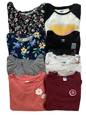 OLD NAVY Girls LOT OF 8 Long Sleeve Tee T-Shirts Tops NWT LARGE 10-12