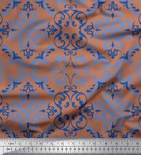 Soimoi Fabric Filigree Damask Print Fabric by the Yard - DK-44F