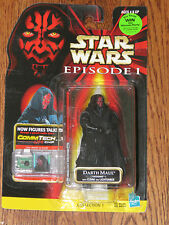 Star Wars Episode I CommTech Darth Maul Tatooine With Cloak & Lightsaber NOSC