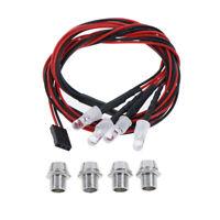 4 LED 5mm White Color Red Color LED Light Set for HSP RC Cars N_N