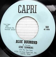GENE SUMMERS & TOM TOMS rockabilly 45 BLUE DIAMOND / YOU SAID YOU LOVE ME  F2310