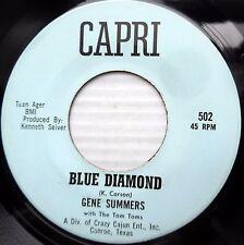 Gene Summers & Tom Toms Rockabilly 45 Blue Diamond / You Said You Love Me F2310