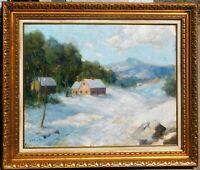 Charles E Buckler, b.1869 MA artist, oil/canvas 24 x 30
