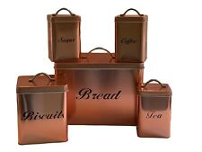 Copper Coated Square 5 Piece Storage Set …