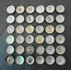 1965 Coke CLEVELAND BROWNS Bottle Caps Complete Set 36 Warfield Kelly Groza RARE
