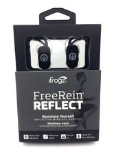 iFrogz FreeRein Reflect Wireless Bluetooth Earbuds Earphones Secure Fit - Black