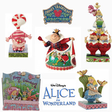 More details for range of disney traditions alice in wonderland figurines new & boxed