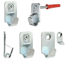 HEAVY DUTY STEEL SAFETY PICTURE FRAME MIRROR CANVAS HOOKS 15kg SCREWS & PLUGS