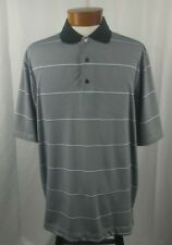 FootJoy FJ Short Sleeve Button Front Men's Golf Polo Black White Purple Stripe L