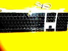 USB Wired Black apple Keyboard Model M7803 WITH 2 USB Ports