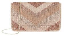 Accessorize-ELLA CHEVRON BEADED CLUTCH BAG-Bronze Mix (Brand New With Tag)