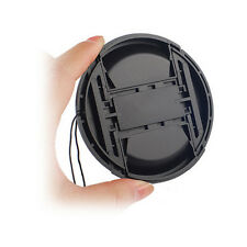 1Pc 52mm Center Pinch Snap on Front Lens Cap Cover & String for Canon Nikon Sony