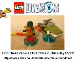 Original LEGO Dimensions Chima Cragger Fun Pack 71223 -- PACK 100% COMPLETE --