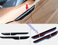 Gloss Black Side fender air wing vent cover trim For range rover EVOQUE 2011-UP