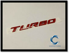 """Genuine Ford Falcon FGX """"TURBO"""" Badge. Rear Bootlid / Gate. Red. AU/BA/BF. XR6"""