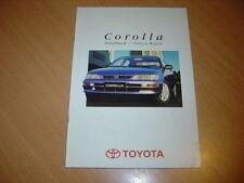 CATALOGUE Toyota Corolla de 1995