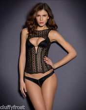 AGENT PROVOCATEUR STUNNING SEXY DEBORAH BLACK CORSET SIZE 2 SMALL UK 8-10 BNWT