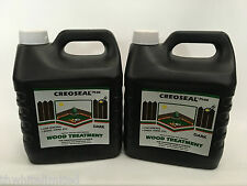 Creoseal Plus Dark Brown 2 x 4 Ltr 8Ltr,Oil Based Fence or Timber Treatment (CH)
