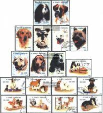 Sao Tome e Principe 1571-1588 (kompl.Ausg.) gestempelt 1995 Hunde und Katzen