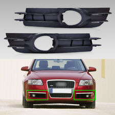 Front 2pcs Fog Light Lamp Grill Grille for 05-08 Audi A6 4F0807681A 4F0807682A
