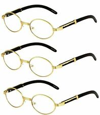 d9bba2271de Elite Wood Art Clear Lens Eyeglasses Unisex Vintage Fashion Oval Frame  Glasses 2
